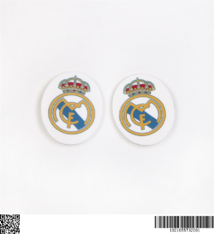 5 X 29MM REAL MADRID LASER CUT FLAT BACK RESIN HEADBANDS BOWS PLAQUES CARD MAKING